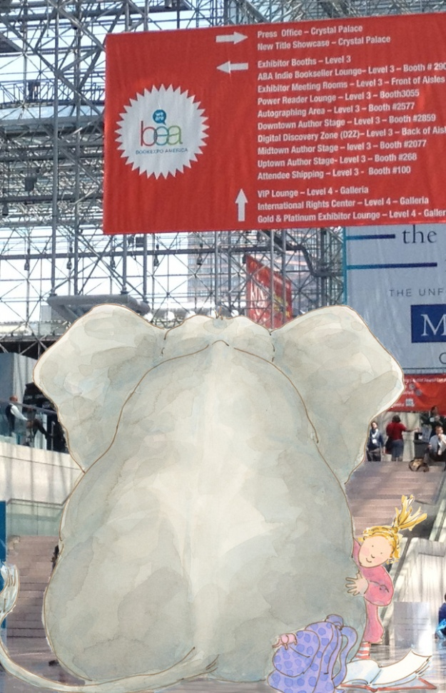 Elephant and Gracie at Book Expo America 2013