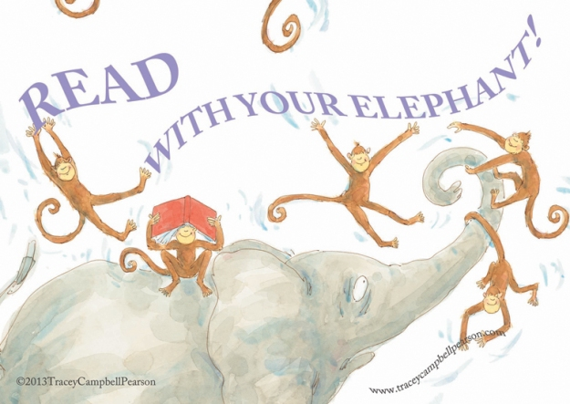 READ...With Your Elephant...ELEPHANT'S STORY by Tracey Campbell Pearson published by Farrar Straus Giroux