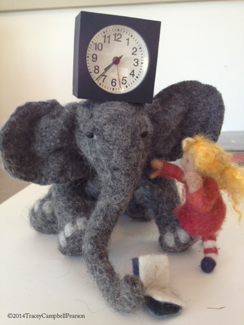 ElephantClockonHead