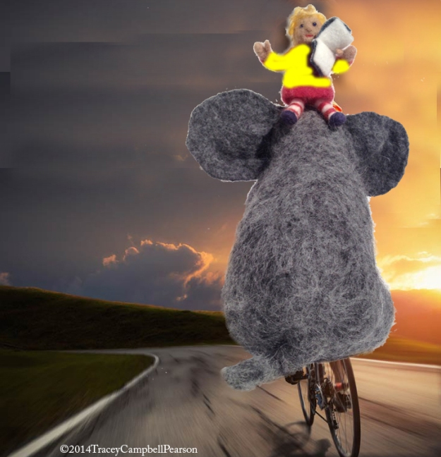 Elephant and Gracie ride Tour de France