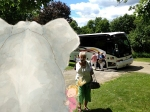 The Mazza Bus tour arrives at Tracey Campbell Pearson's studio in Vermont.