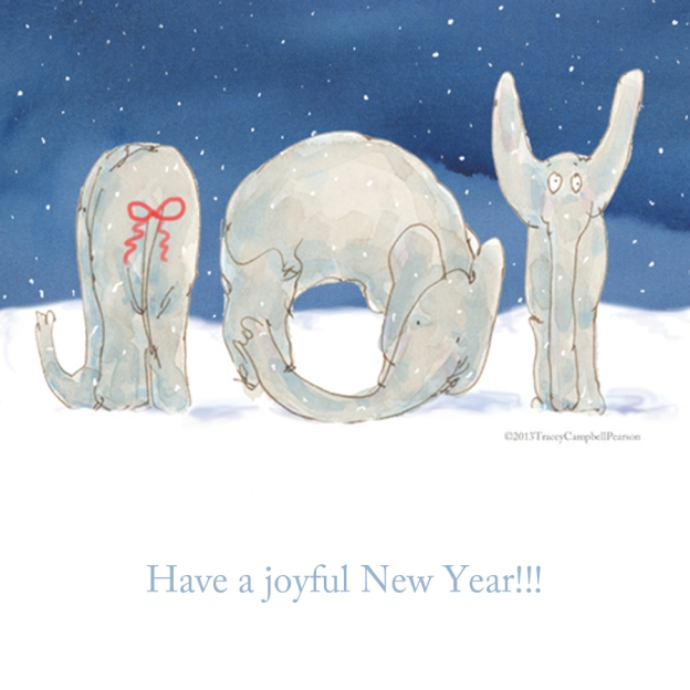 Elephant Joy for the New Year