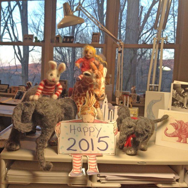 Gracie and Elephant New Year 2015